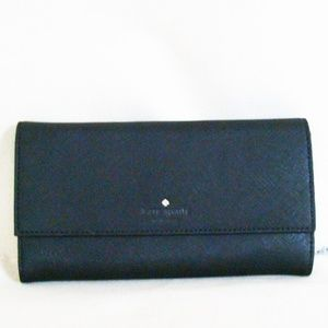 Kate Spade Black Leather IPhone 7 Wallet Clutch